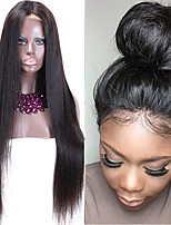 New Style High Ponytail Full Lace Wigs Silky Straight Virgin Human Hair  Affordable Malaysian Full Lace Wig Middle Part