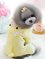 Hunde Mäntel Gelb Winter Modisch