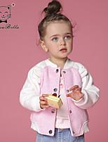Veste & Manteau Fille de Hiver / Printemps / Automne Coton / Polyester Rose