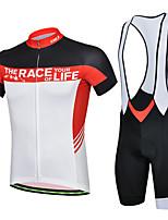 Conjuntos de Roupas/Ternos / Calções Bibes ( Vermelho ) - de Ciclismo / Motorbike - Homens -Respirável / Resistente Raios Ultravioleta /