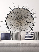 3D Vintage Round Broken Wall Living Room 3D Wall Stickers Removable Fashion Bedroom Wall Decals