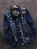 In the spring of 2016 new denim jacket Metrosexual Denim Jacket Size Japanese retro casual slim.
