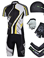 CHEJI Cycling Bike Short Sleeve Suit & Pirate Hat + Gloves + Sleeves