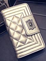 Tri-fold (tre scomparti)-Pochette / Portafoglio / Porta carte di credito-Donna-PU-Dorato / Rosso / Nero