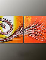 Met de hand geschilderde abstracte moderne olieverf, canvas twee panelen