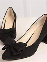 Zapatos de mujer-Tacón Robusto-Tacones-Tacones-Oficina y Trabajo / Vestido-Sintético-Negro / Rosa / Rojo