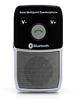 Solar Hands-Free Bluetooth 4.1 Car Kit Speaker Phone Auto Voice Prompt