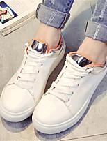 Scarpe Donna-Sneakers alla moda-Tempo libero / Casual / Sportivo-Comoda-Piatto-Finta pelle-Bianco