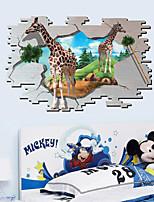 Animaux / Bande dessinée Stickers muraux Stickers muraux 3D,PVC 90*60cm
