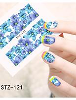1pcs  Water Transfer Nail Art Stickers  Colorful Flower Nail Art Design STZ121-125