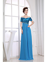 Formal Evening Dress-Pool Sheath/Column V-neck Floor-length Chiffon / Charmeuse
