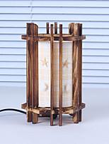 legno creativo le conchiglie cilindrico lampada contenitore decorazione dono lampada da letto lampada da tavolo per bambino