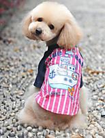 honden T-shirt / Kleding / Kleding Blauw / Roze Zomer / Lente/Herfst Klassiek Modieus-Lovoyager