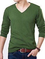 Men's Pure Pullover,Wool / Cotton / Polyester Long Sleeve k160