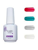 ILuve Gel Nail Polish Set - Pack Of 4 - Long Lasting 3 Weeks Soak Off UV Led Gel Varnish – For Nail Art #4035