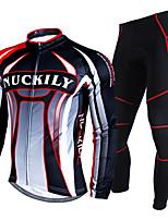 Conjuntos de Roupas/Ternos(Vermelho) - deEsportes Relaxantes / Ciclismo / Corrida / Motorbike / Triathlon-Homens-Impermeável / Á