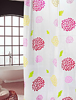 Sunflower Waterproof Silk PEVA Shower Curtain Mildew Are Easy To Clean 9