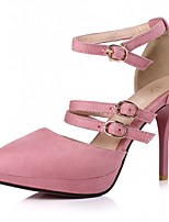 Women's Shoes Leatherette Stiletto Heel Heels Heels Wedding / Office & Career / Party & Evening Black / Pink