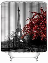 Modern Eiffel Tower Shower Curtains W71
