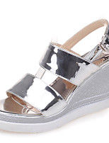 Women's Shoes Wedge Heel/Platform/Sling back/Open Toe Sandals Party & Evening/Dress Purple/Silver/Gold