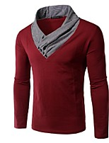 Men's Long Sleeve T-Shirt,Cotton Casual Solid