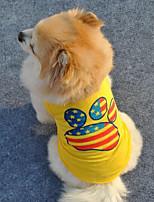 Lovely Footprints Pattern Pet Vest