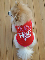 Classic Comfortable Pure Color Words Pet T-shirt