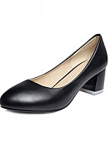 Women's Shoes Leatherette Chunky Heel Heels Heels Wedding / Office & Career / Casual Black / Blue / Pink / White