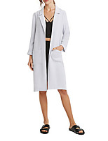 Women's Solid Coat,Simple Long Sleeve Polyester