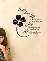 Botanical Wall Decals Flower Wall Stickers Words & Quotes Wall Stickers Plane Wall Stickers,Vinyl 29*51cm
