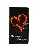 Love Fire Lightning Pattern Painted PU Phone Case for Galaxy A3(2016)/A5(2016)/A7(2016)/A9