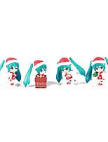 Vocaloid Hatsune Miku PVC One Size Anime Action Figures Model Toys  Q Version 1Set 10cm