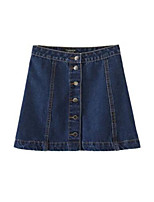 Women's Solid Blue Skirts,Casual / Day Mini