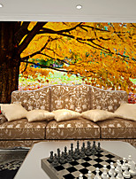 JAMMORY Art Deco Wallpaper Contemporary Wall Covering,Non-woven Paper Golden Cloth Wallpaper Leaf Tree Wallpaper