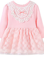 Girl's Pink Dress Cotton Spring / Fall