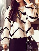Women Faux Fur Top,Belt Not Included