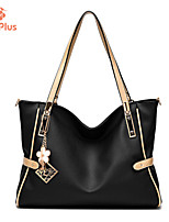 M.Plus® Women's Fashion Solid PU Leather Messenger Shoulder Bag/Tote