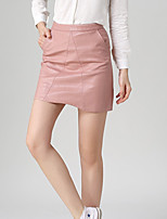 Women's New Style PU Leather Skirt Sexy Package Buttocks