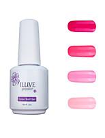 ILuve Gel Nail Polish Set - Pack Of 4 - Long Lasting 3 Weeks Soak Off UV Led Gel Varnish – For Nail Art #4047