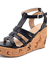Women's Shoes   Wedge Heel Wedges / Open Toe Sandals Outdoor / Casual Black / Brown