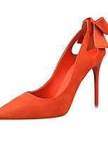 Women's Shoes Velvet Stiletto Heel Heels Heels Casual Black / Pink / Red / Gray / Orange