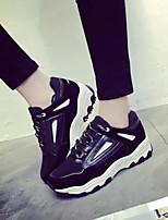 Scarpe Donna-Sneakers alla moda-Tempo libero / Sportivo-Punta arrotondata / Comoda-Zeppa-Finto camoscio / Vernice-Nero / Blu / Rosso