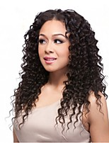 Factory Price Brazilian Virgin Human Hair Deep Curly Full Lace Front Wig For Women