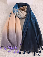 New Winter Gradient Color Tie-dyed Beach Towel English Fringed Scarves Cotton Scarves Wholesale