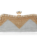 L.west Women Elegant High-grade Color Matching Diamonds Evening Bag
