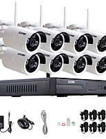 ZOSI®8CH 960P NVR Wireless CCTV System 8pcs 1.3MP IP Camera Wifi Waterproof Home Security Surveillance Kit