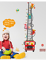 MJ8020 Cartoon Fire Truck Fireman Height Stickers Children's Room Backdrop Stickers Removable Wall Sticker Videos