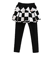 Girl's Black Leggings Cotton Spring / Fall