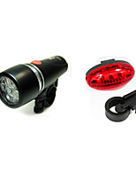 Bicycle Front Light +Rear/Tail Light Kits  Cycling Safety Warning Light