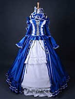 Top Sale Gothic Cosplay Party Dress Long Belle Dress